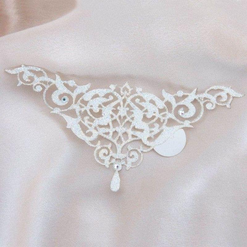 šperk na tělo - Alhambra bílá uni