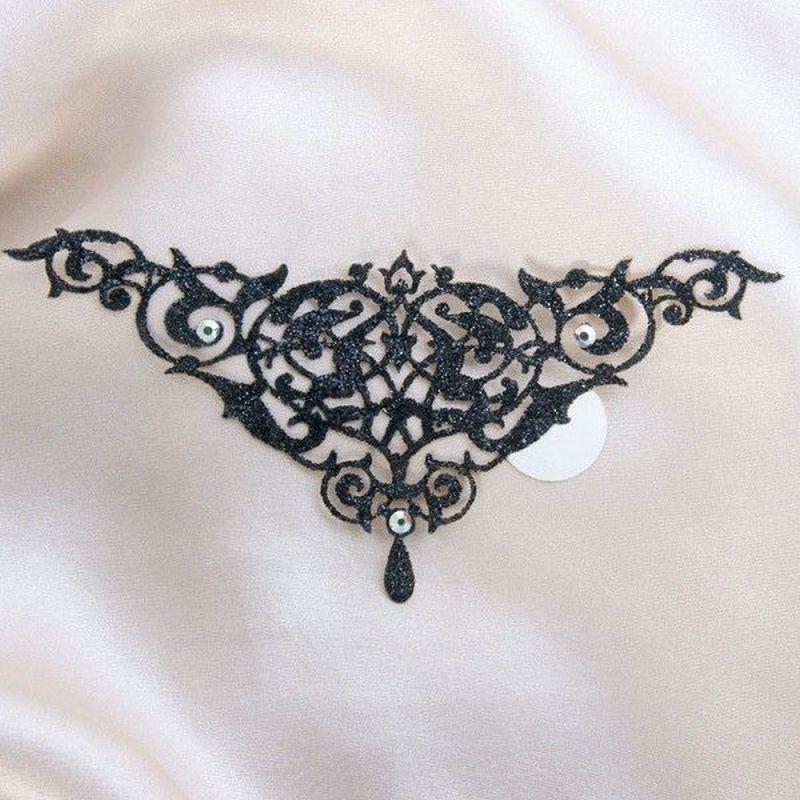 šperk na tělo - Alhambra černá uni