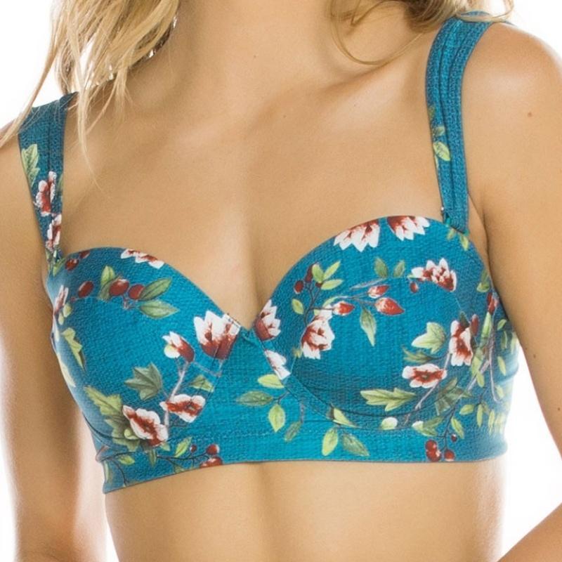 dd11476b9f Plavky dvoudílné vyztužené - luxusní spodní prádlo