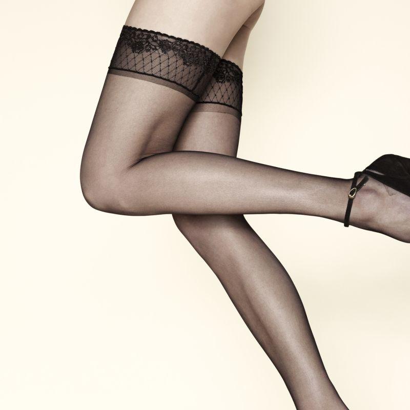 d2f9c1fb57b Samodržící punčochy Voile Gerlon 15 - luxusní spodní prádlo ...
