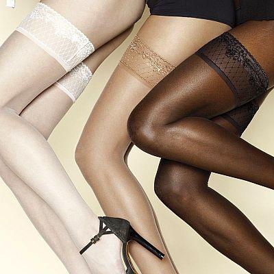 21cdecb7842 Samodržící punčochy Ethnic Colours - luxusní spodní prádlo
