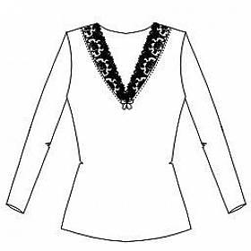 triko s dlouhým rukávem  Lise Charmel - Cristal d´art