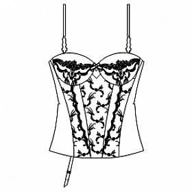 korzet s vyztuženými košíčky D-F Eprise - Orchid bonheur